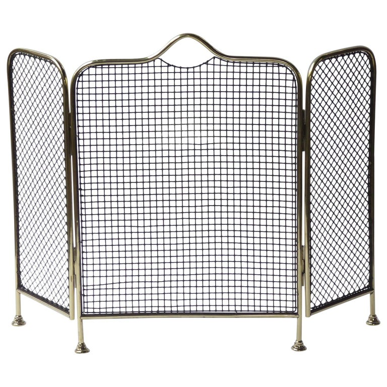 19th Century English Victorian Fireplace Screen or Fire Screen For Sale