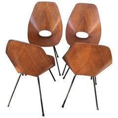Medea Chair Vittorio Nobili / Fratelli Tagliabue 1955 Iron Wood, Italian