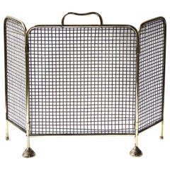 19th Century English Victorian Fireplace Screen or Fire Screen