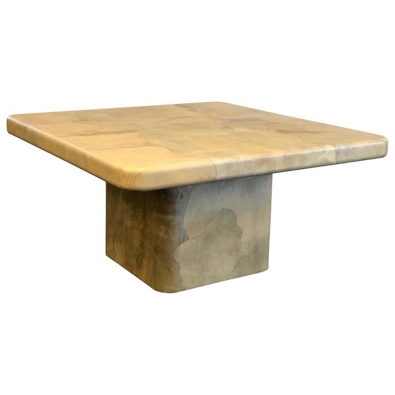 Goatskin Dining Table By Karl Springer For