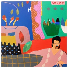 'A Little off the Top' Portrait Painting by Alan Fears Pop Art Haircut
