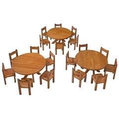 Pierre Chapo Three Dining Room Sets
