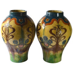 Bruges Arts and Crafts Pair of Vases