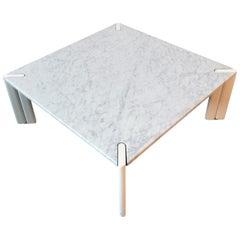Vintage White Marble Coffee Table