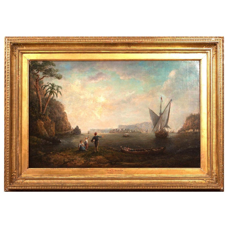 18th Century Italian Landscape Attributed to William Marlow, circa 1780 For Sale