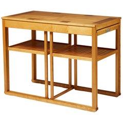 Nest of Tables 'Släden' Designed by Carl Malmsten, Sweden, 1980s