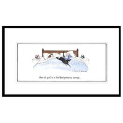 Third Person in a Marriage Humorous Dog Print