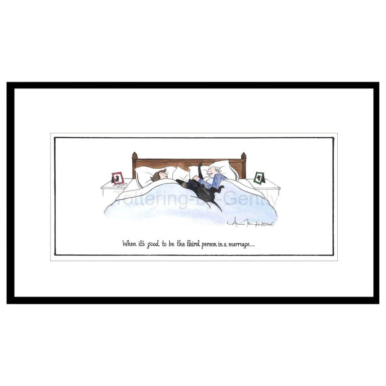 Third Person in a Marriage Humorous Dog Print For Sale
