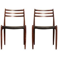 Model 78 Rosewood Chairs by Niels O. Møller, Denmark, 1960s