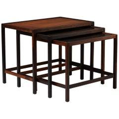 Nest of Tables Designed by Kurt Östervig for Jason. H., Denmark, 1950s