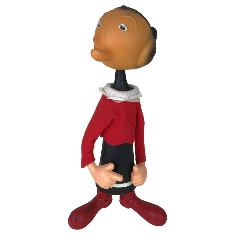 1960s Vintage Olive Oyl Toy with Nodding Head Made in Italy for Sperlari For Sale