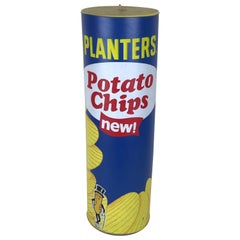 1970s Vintage Advertising Inflatable Planters Stackable Potato Chips Box