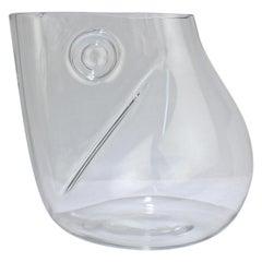 Huge Signed Barbini Asymmetrical Modernist Murano Glass Vase