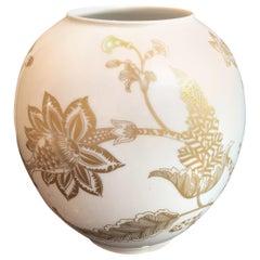 Vintage Leaf Vase by Heinrich