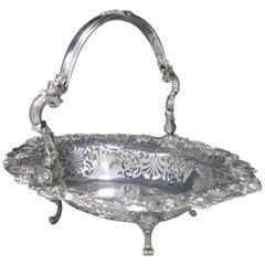 George II Antique Silver Basket London 1751 by E. Aldridge