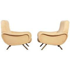 Authentic Marco Zanuso Lady Chairs, Arflex, Italy, 1960s for re-upholstery