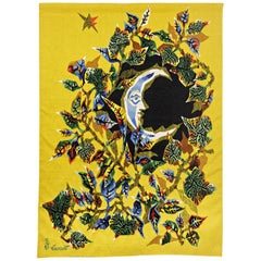 "Tapestry by Jean Lurçat, Entitled ""Lune De Juin"", circa 1940-1950, Aubusson"