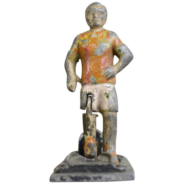 Early 20th Century Cast Iron Amusement Arcade Footballers For Sale