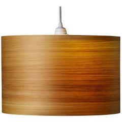 "ARA 18x9"" Cypress Wood Drum Chandelier Pendant"