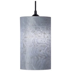 CENTA Custom Soft Gray Bird's-Eye Maple Wood Cylinder Pendant