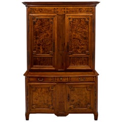 Louis XVI Period Burled Ash Double Corps Buffet