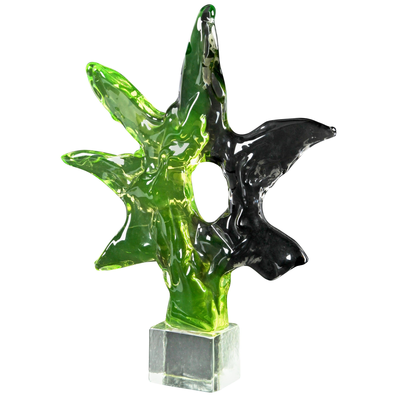 Luciano Gaspari for Seguso Murano Glass Sculpture