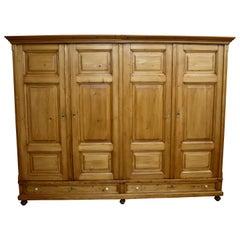 Pine Four-Door Knock-Down Armoire