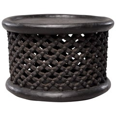 African Bamileke Carved Wood Table or Stool