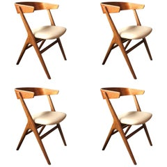 Helge Sibast, Set of Four Chairs