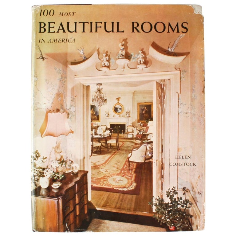 100 Most Beautiful Rooms in America by Helen Comstock For Sale