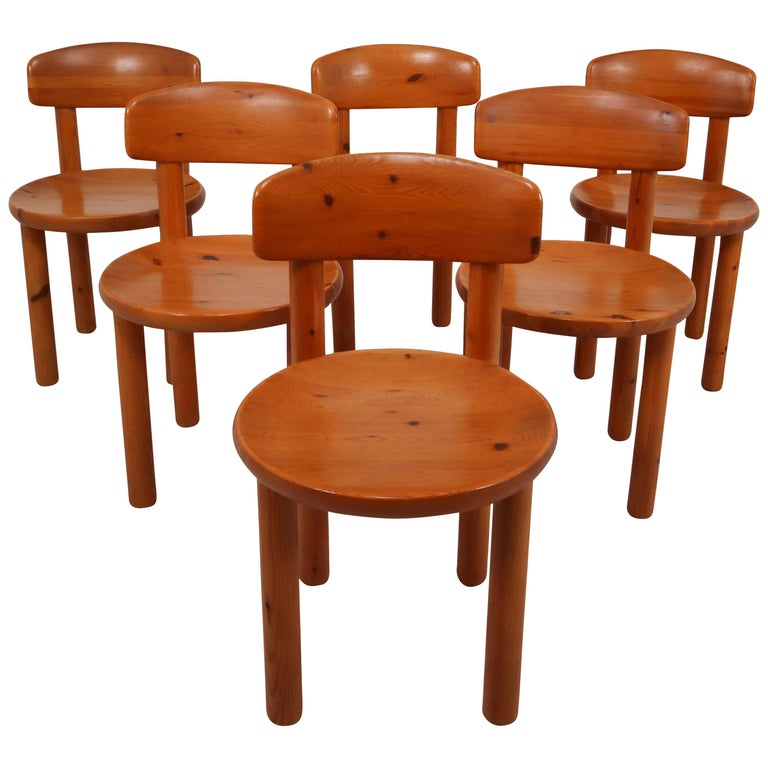 Set of Six Dining Chairs by Rainer Daumiller for Hirtshals Sawmill, Denmark For Sale