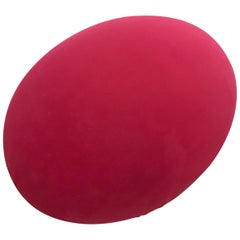 "Red Bareli Italia ""Tato"" Pouf Ottoman or Foot Stool"