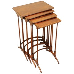 Regency Padouk Quartetto Nest of Coffee Tables
