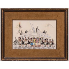 Pueblo Harvest Dance, vintage Painting by Jose Roybal (San Ildefonso Pueblo)