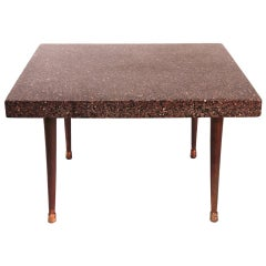 American Mid-Century Modern Terrazzo End Table
