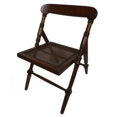 20th Century Gridded Seat Spanish Folding Chair