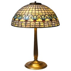 Tiffany Studios New York Leaded Glass and Gilt Bronze 'Pomegranate' Table Lamp