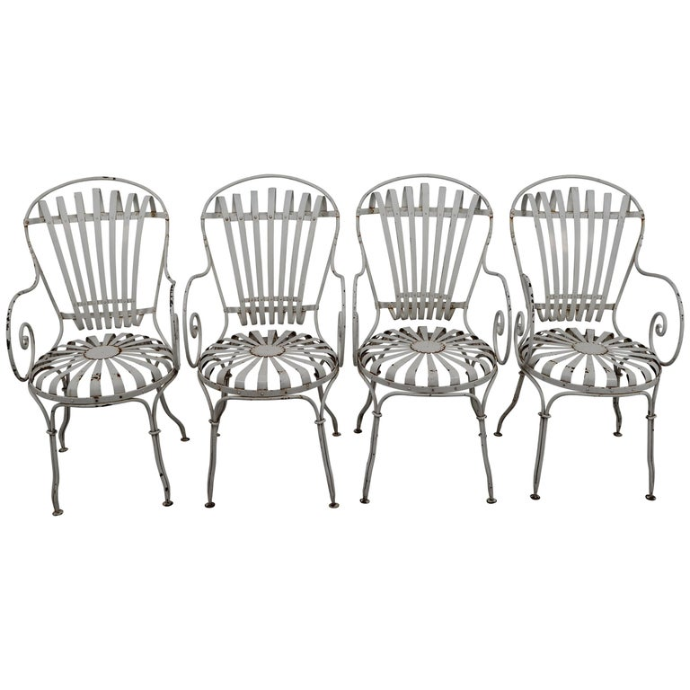 Four Francois Carre Garden Chairs Commissioned by Le Corbusier, France, 1930s For Sale