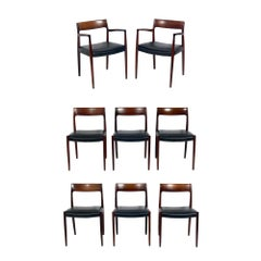 Danish Modern Dining Chairs by Niels Møller