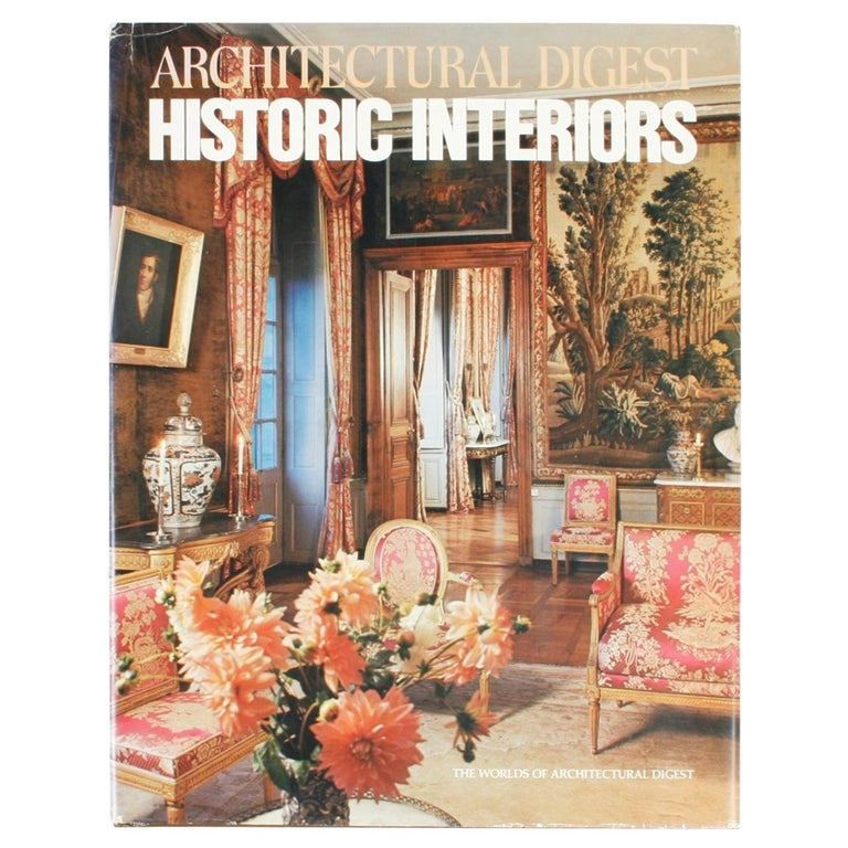 Architectural Digest Historic Interiors by Paige Rense, First Edition For Sale