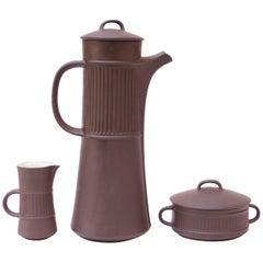 Early Jens Quistgaard for Dansk Flamestone Coffee or Tea Set