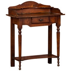 Small Antique English Cottage Style Side Table