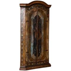 Vintage Decorative Painted 2-Door Corner Cabinet