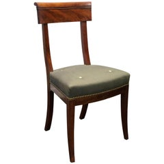 Set of Eight Directoire Mahogany Dining Chairs
