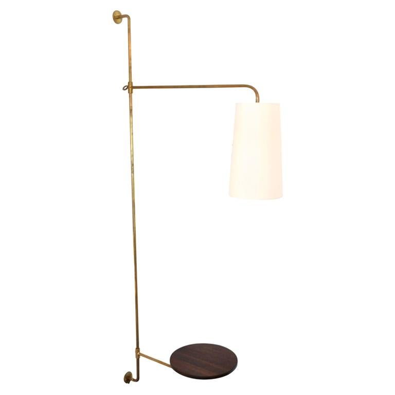 French Wired Pole Sconce with Table by Orange Los Angeles For Sale