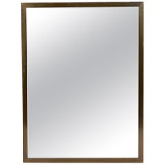 Clean Lined Brass Mirror