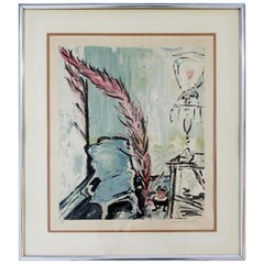 Framed Colored Lithograph Signed by Sarah Churchill 67/300