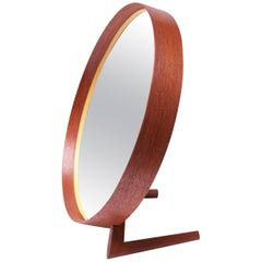 Swedish Teak Table Mirror by Uno and Östen Kristiansson for Luxus