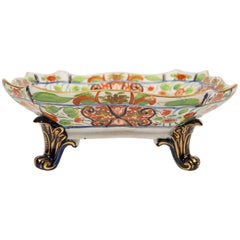 Coalport Porcelain Fruit Bowl Imari Decoration Hand-Painted