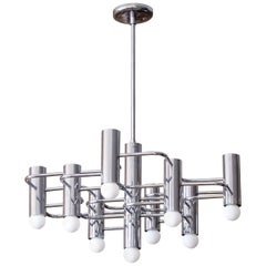 Boulanger Chrome Chandelier, 1960